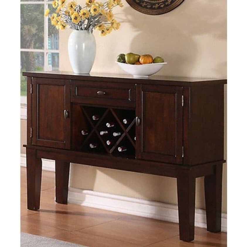 Warm and Contemporary Server, Brown (Brown)