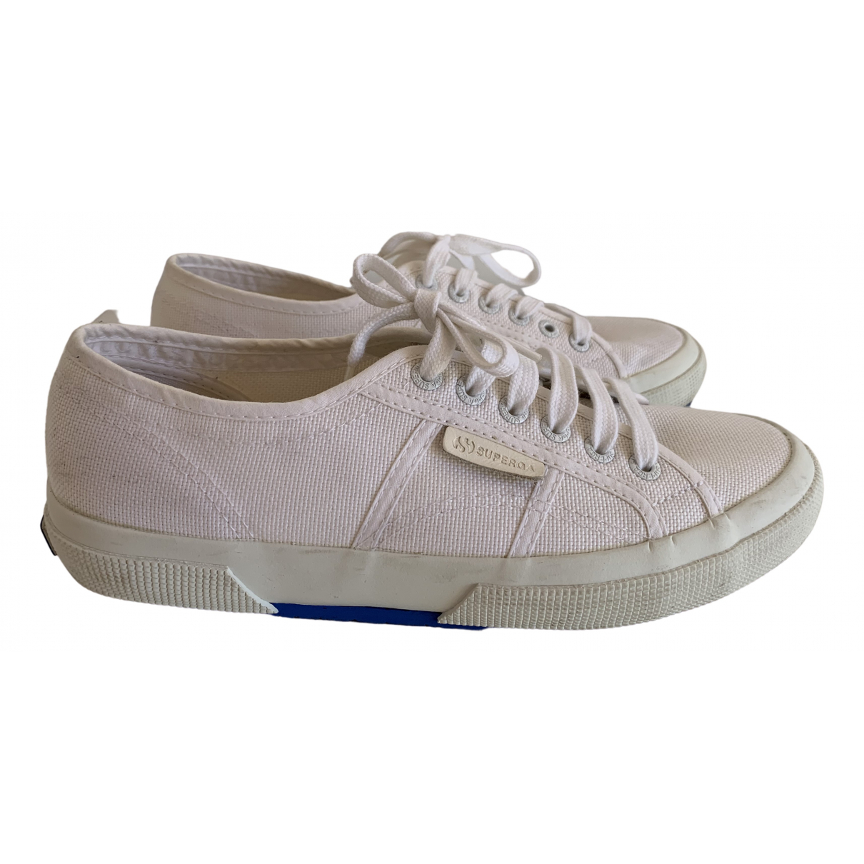 Sandro \N Sneakers in  Weiss Leinen