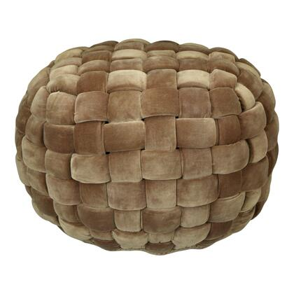 Jazzy Collection LK-1005-40 Pouf with Cotton Velvet in Brown