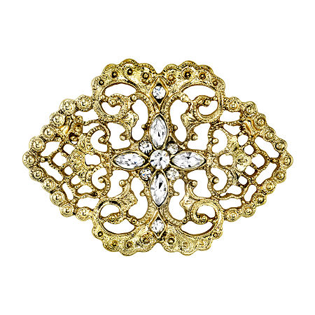 Downton Abbey By 1928 Jewelry Pin, One Size , Yellow