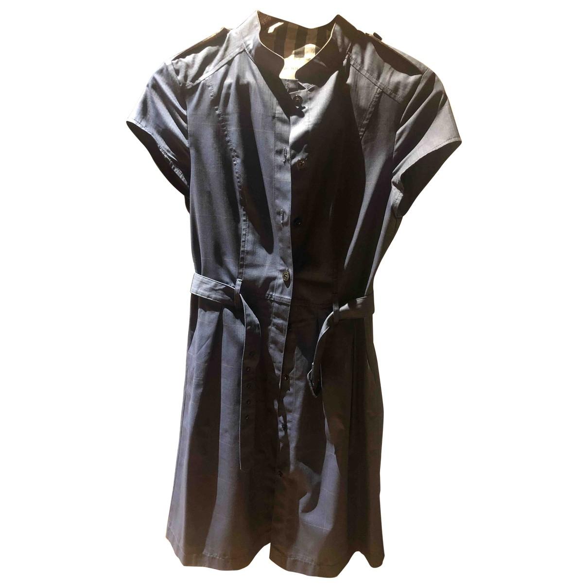 Burberry \N Kleid in  Grau Baumwolle