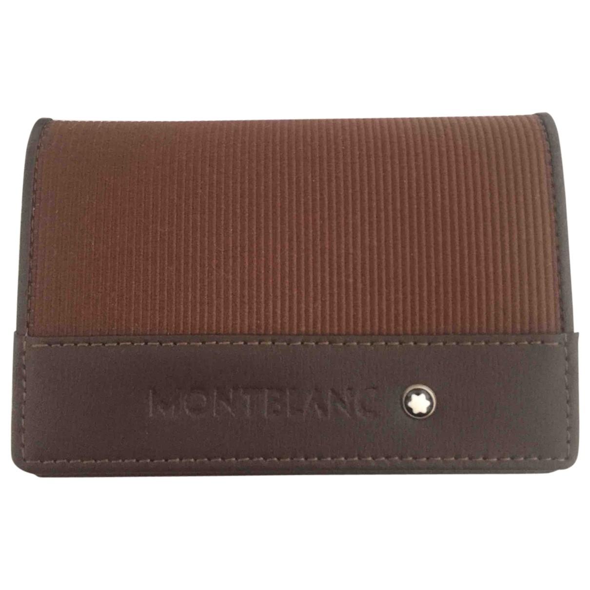 Montblanc - Petite maroquinerie   pour homme en cuir - marron