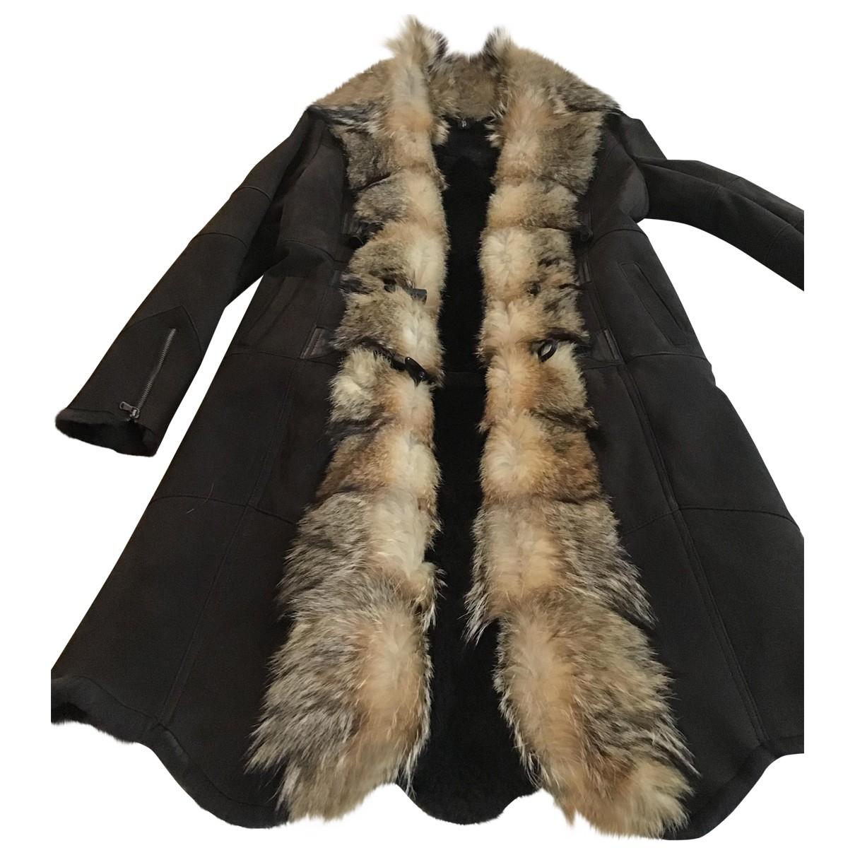 K-yen \N Brown Suede coat for Women 8 UK