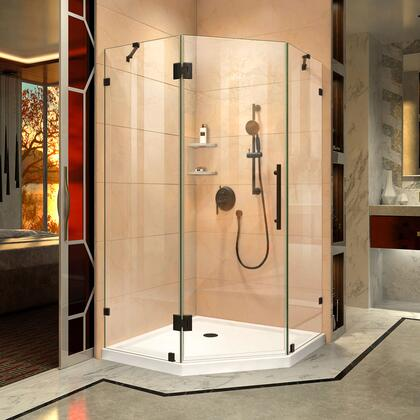 SHEN-2238380-09 Prism Lux 38 X 38 X 72 Fully Frameless Hinged Shower Enclosure In Satin