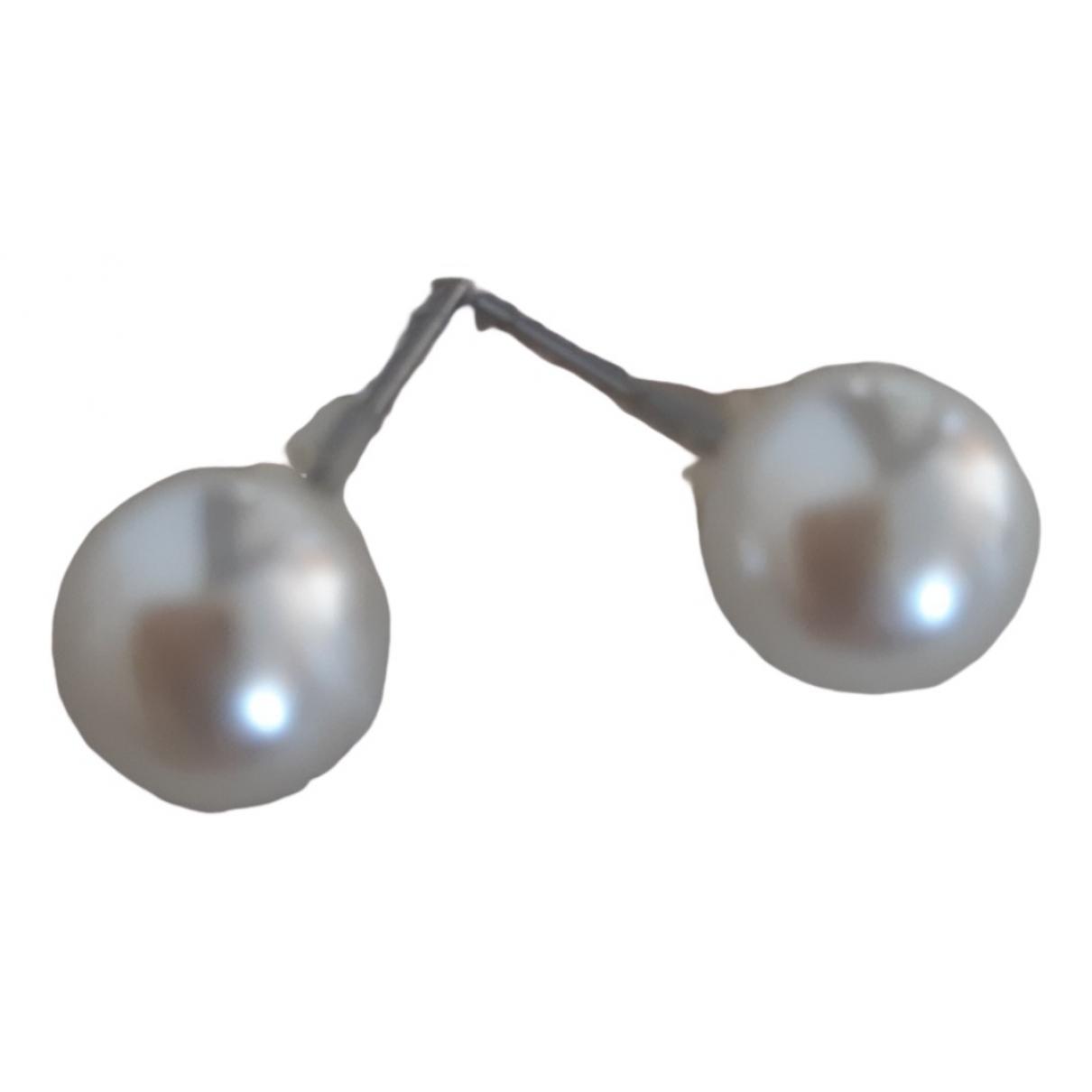 Unknown - Boucles doreilles   pour femme en perles - blanc