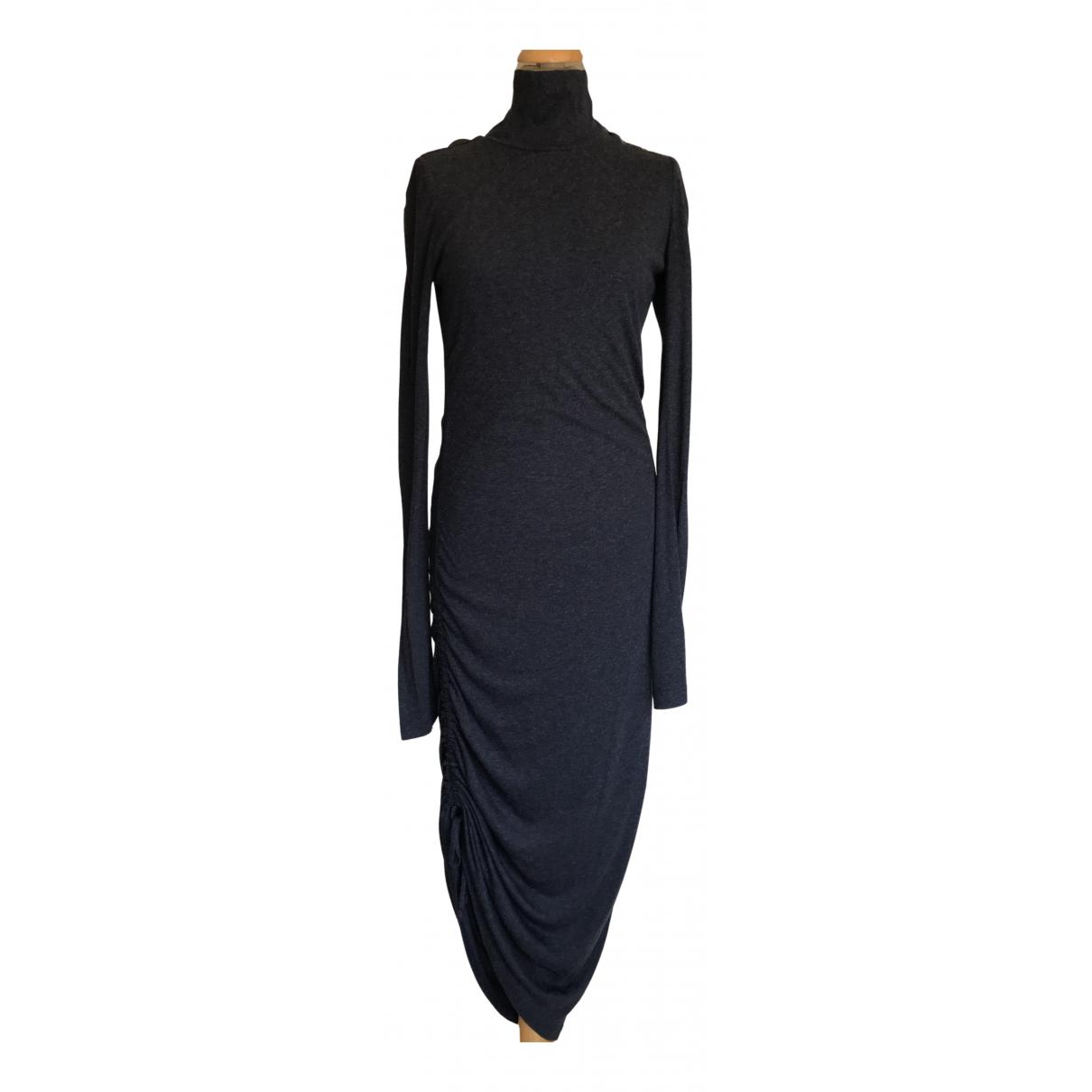 Pierre Balmain \N Kleid in  Blau Viskose