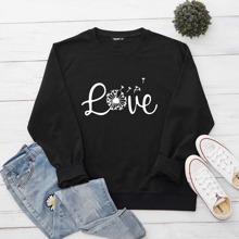 Plus Letter Graphic Sweatshirt