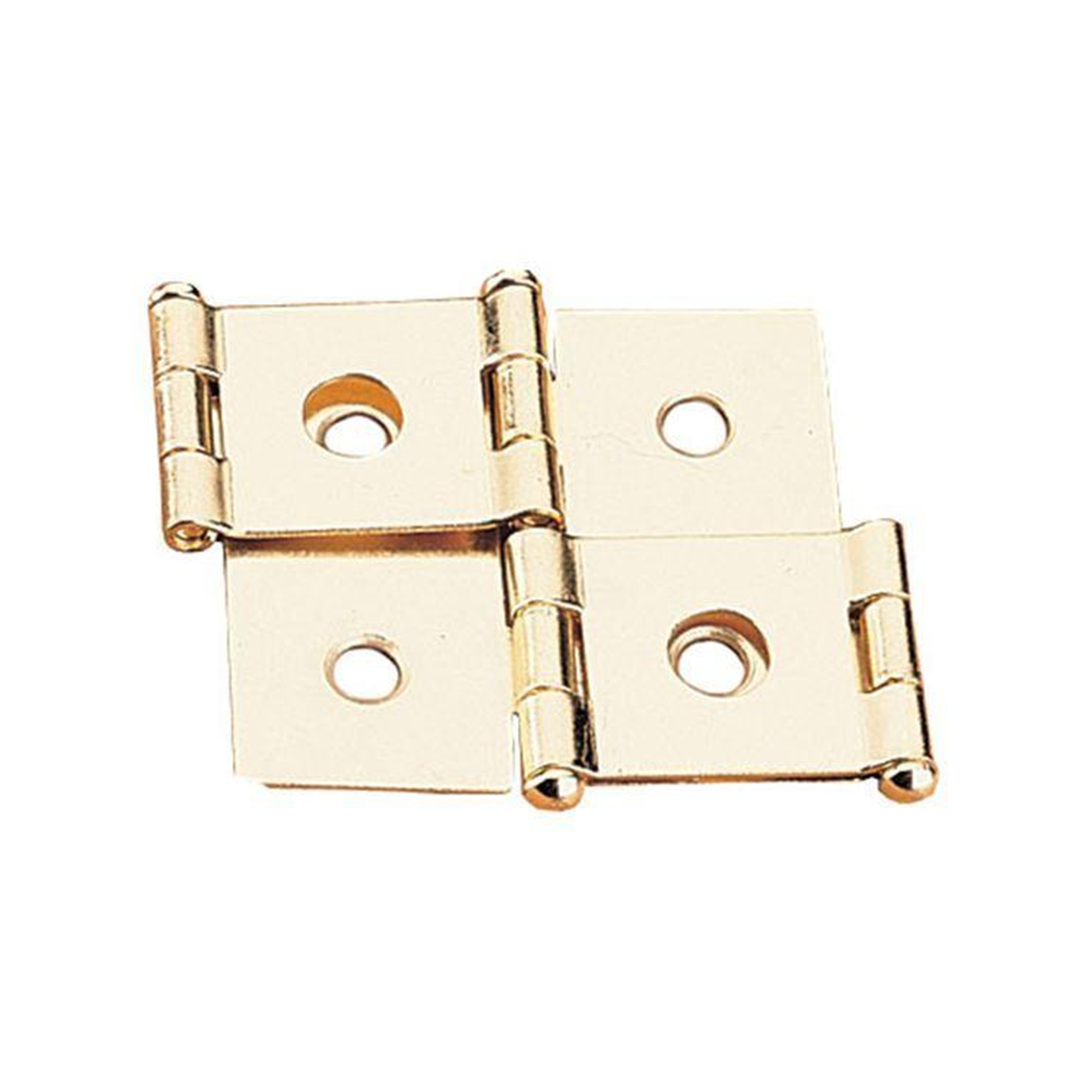 Non-mortise Hinge Polished Brass Plated, Pair, fits 3/4