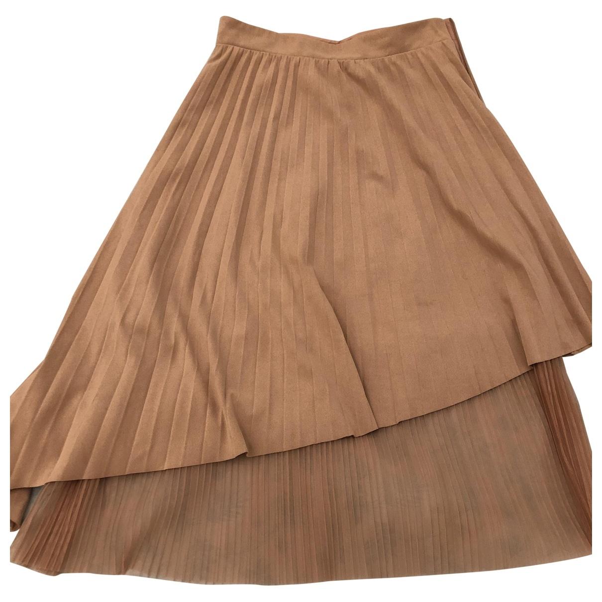Zara - Jupe   pour femme en velours - beige