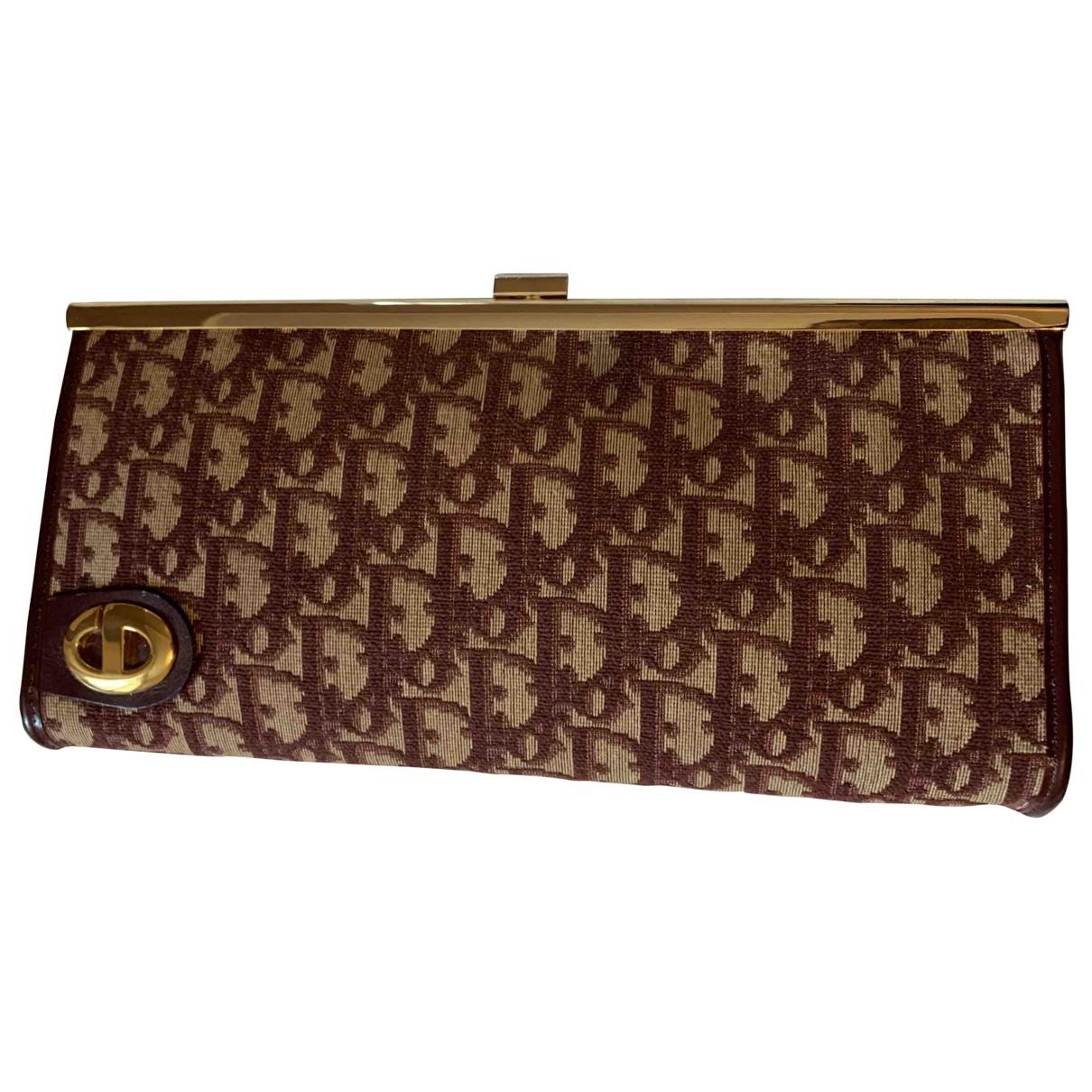 Dior \N Burgundy Cloth Clutch bag for Women \N