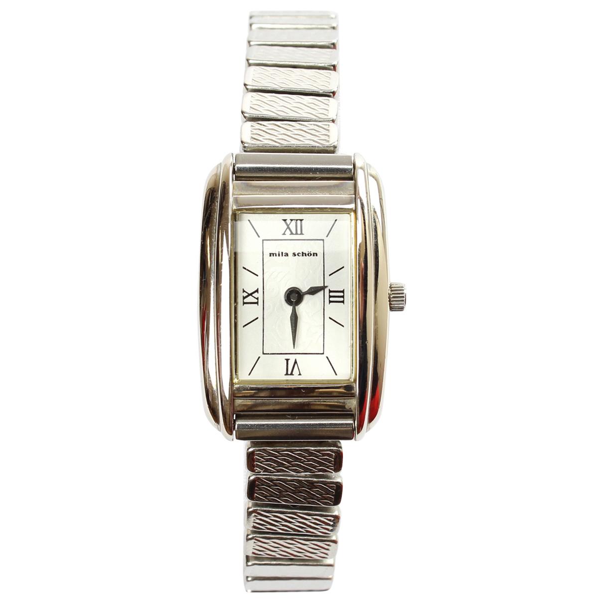 Mila Schön Concept \N White Steel watch for Women \N