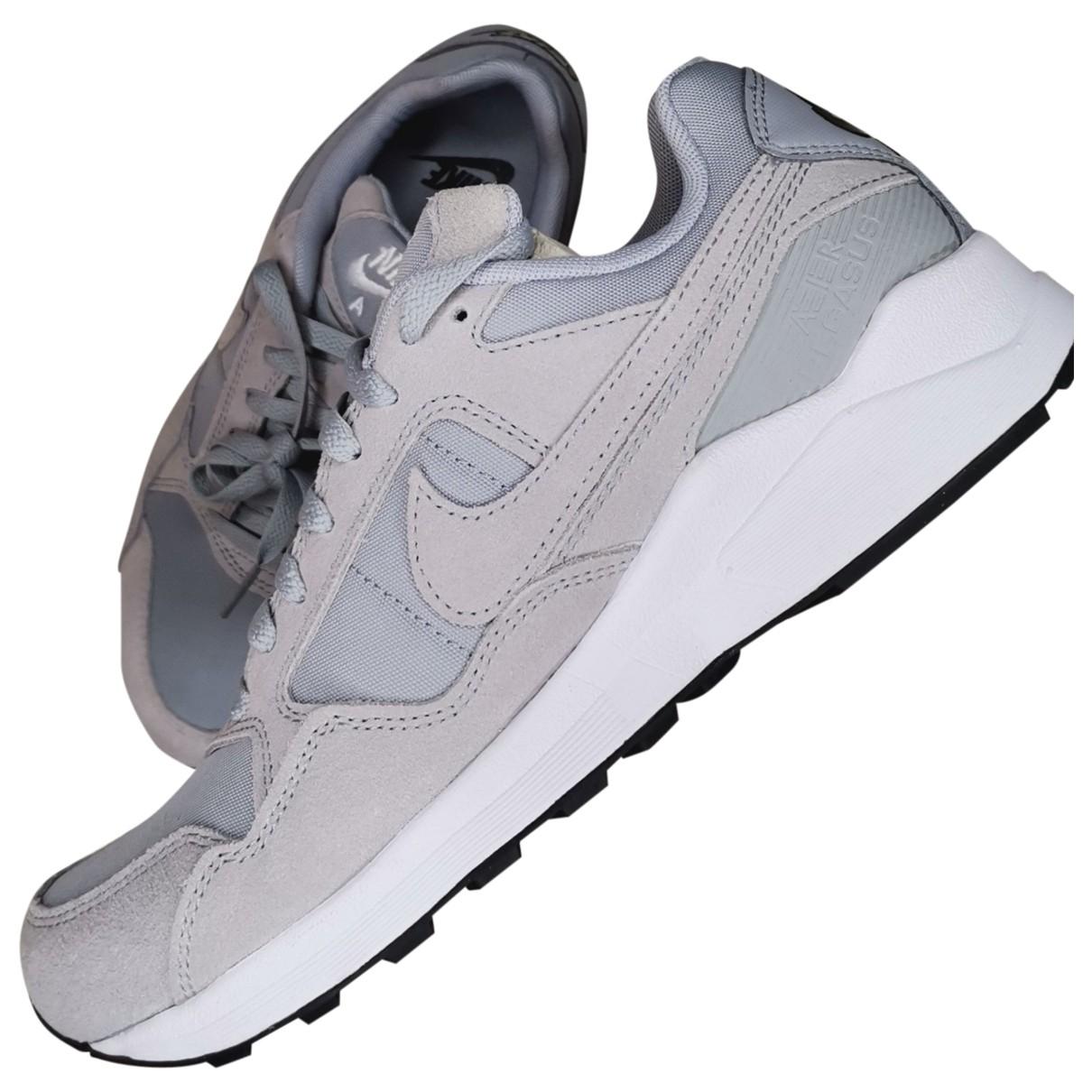Nike \N Grey Leather Trainers for Women 39 EU