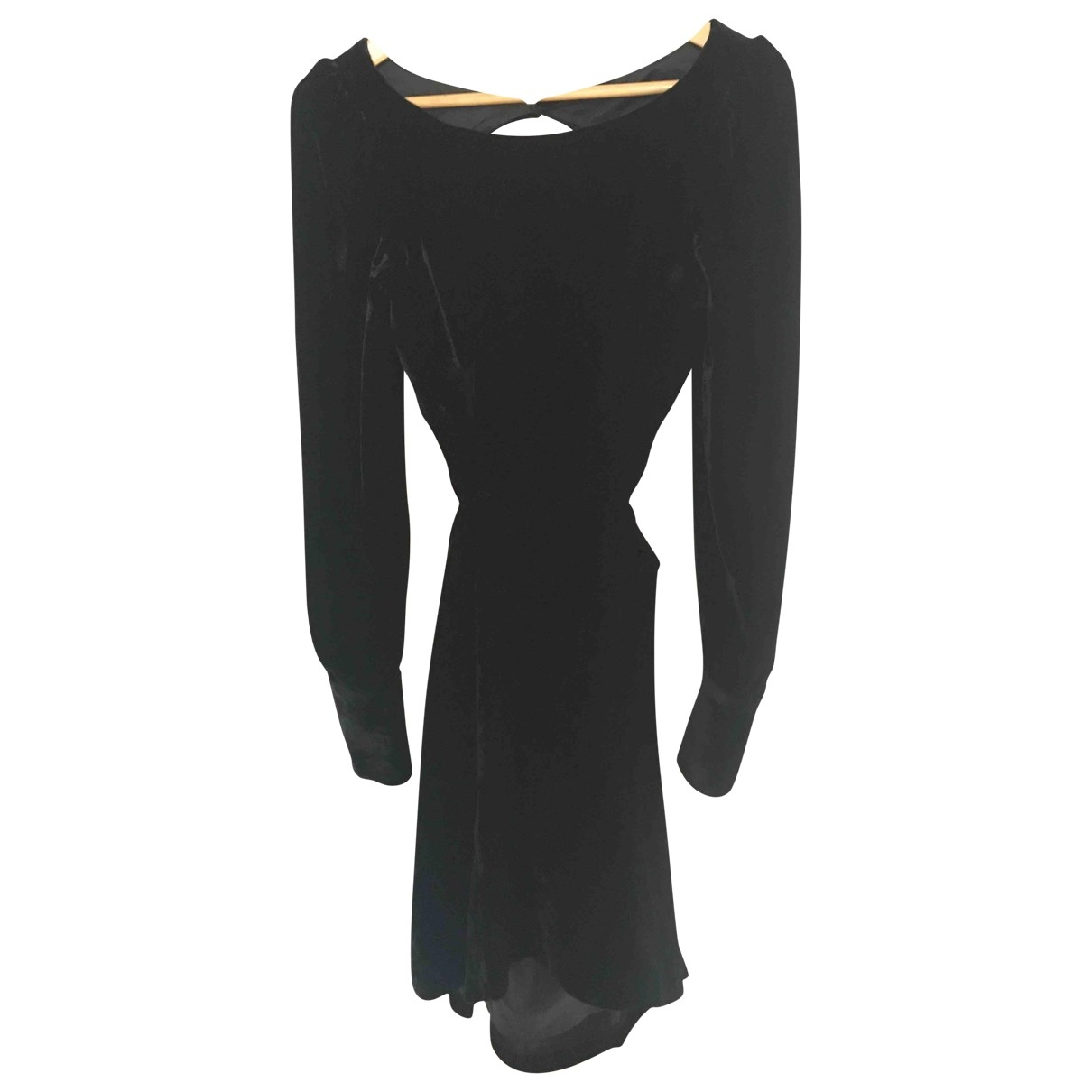 tophop Unique \N Black Velvet dress for Women 6 UK