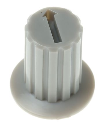 KNITTER-SWITCH Grey Rotary Switch Cap for use with DRR Series, DRS Series