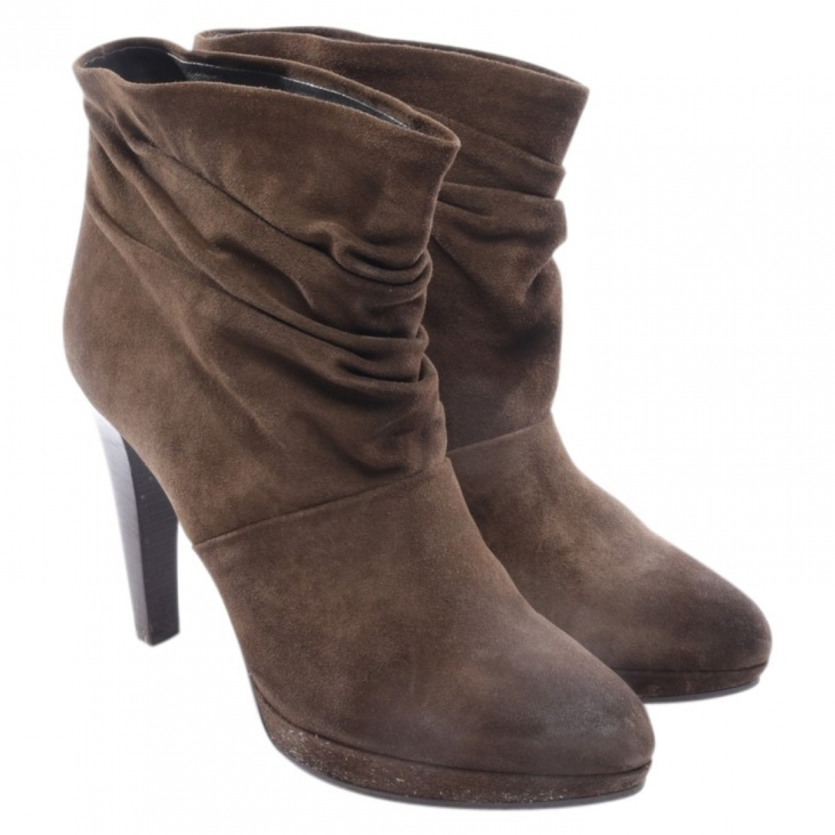 Hugo Boss \N Brown Leather Ankle boots for Women 41 EU