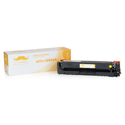 Compatible HP 202A CF502A Yellow Toner Cartridge - Moustache®