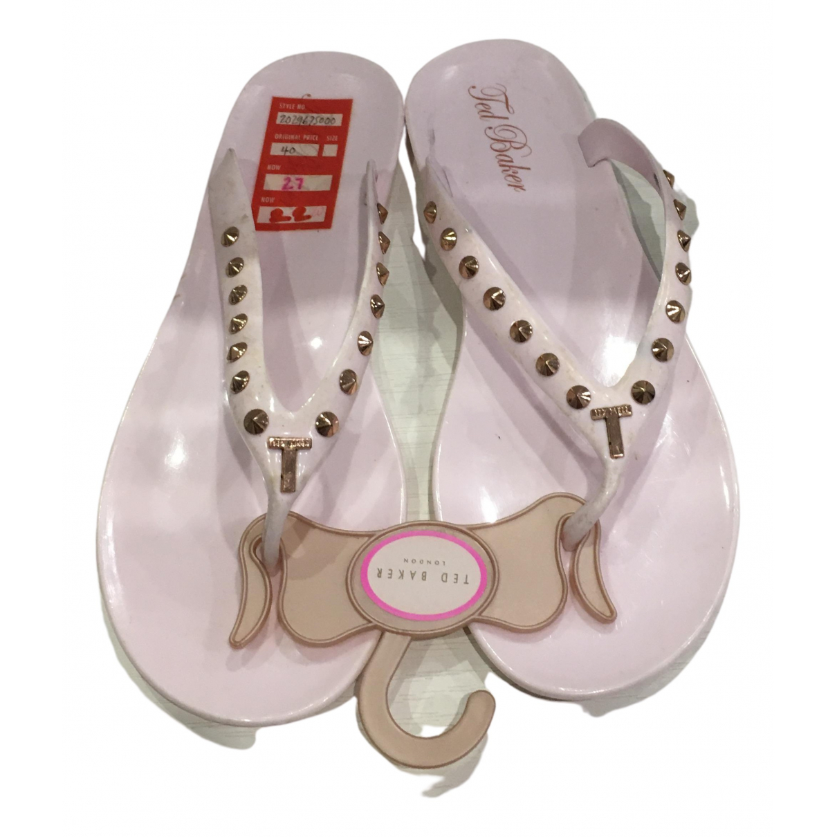 Ted Baker \N Pink Rubber Sandals for Women 37 EU