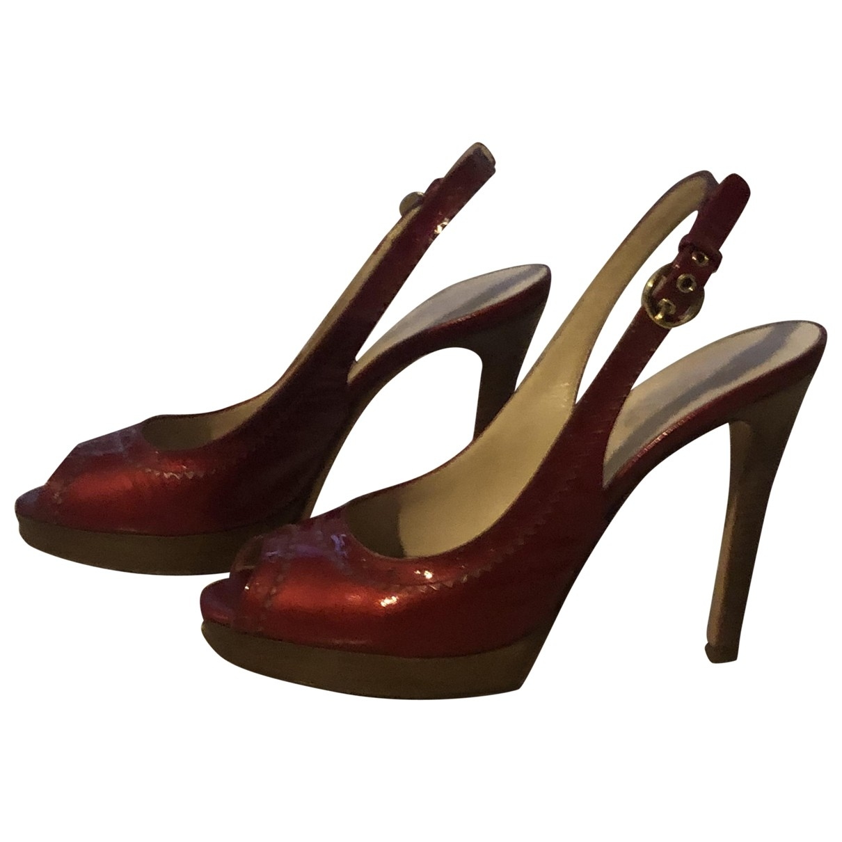D&g \N Red Patent leather Sandals for Women 38 EU
