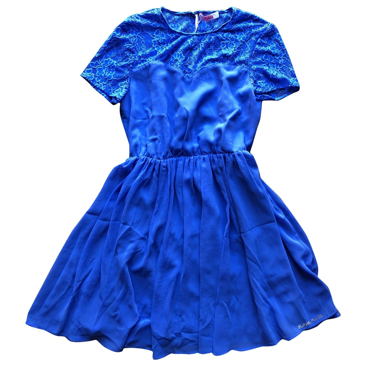 Non Signe / Unsigned \N Kleid in  Blau Polyester