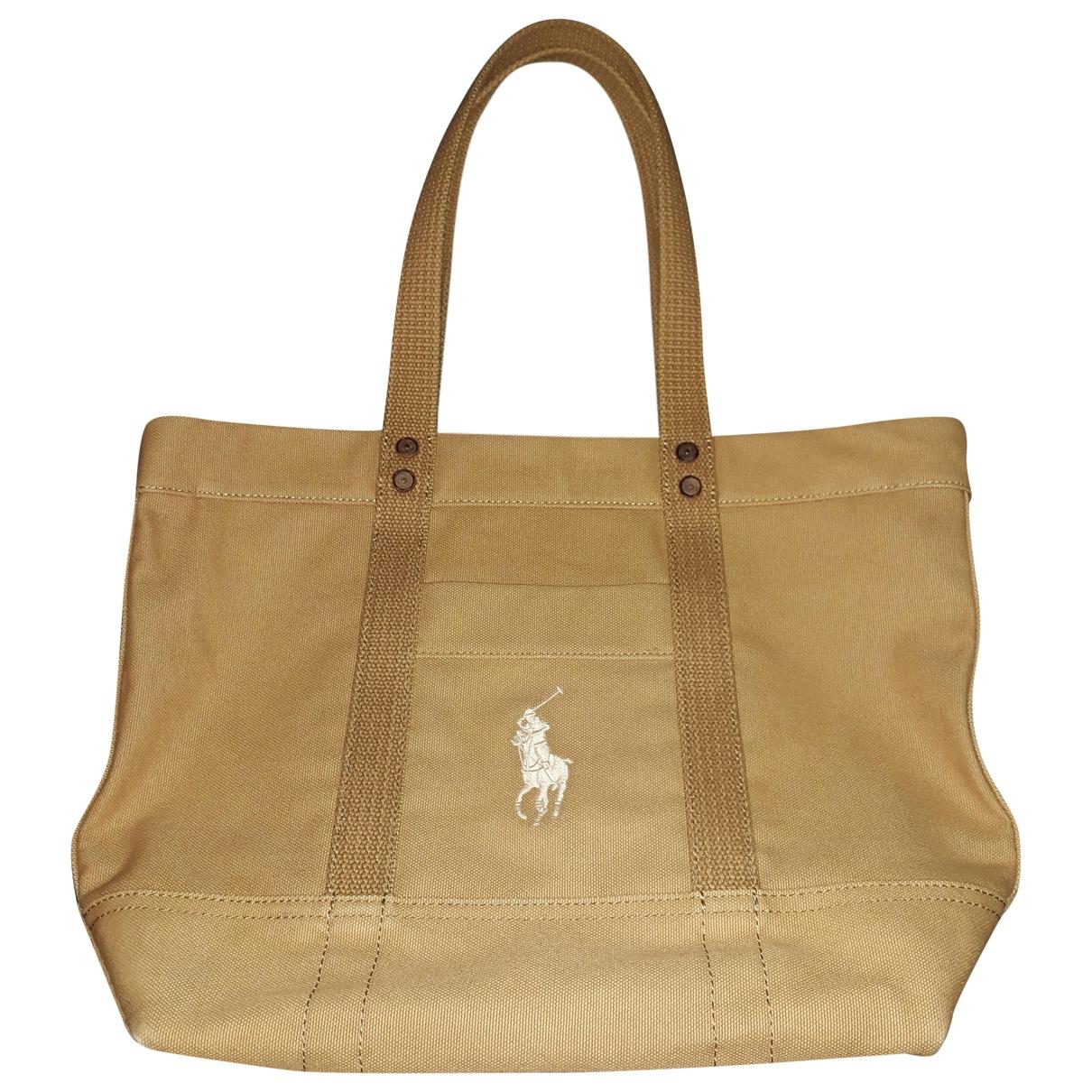 Polo Ralph Lauren \N Handtasche in  Beige Baumwolle