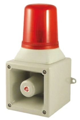 e2s AB105LDA Sounder Beacon 112dB, Red LED, 24 V dc