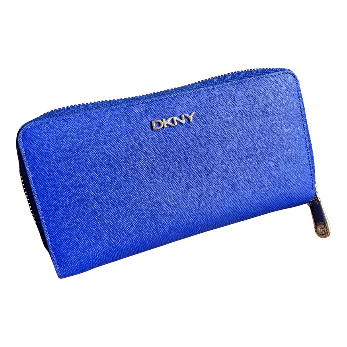 Dkny \N Portemonnaie in  Blau Leder