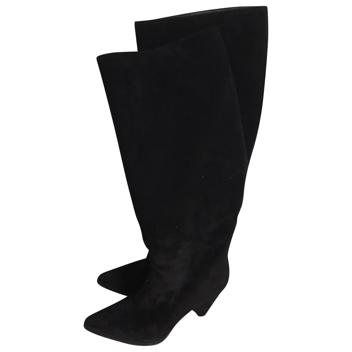 Sergio Rossi \N Black Suede Boots for Women 38.5 IT