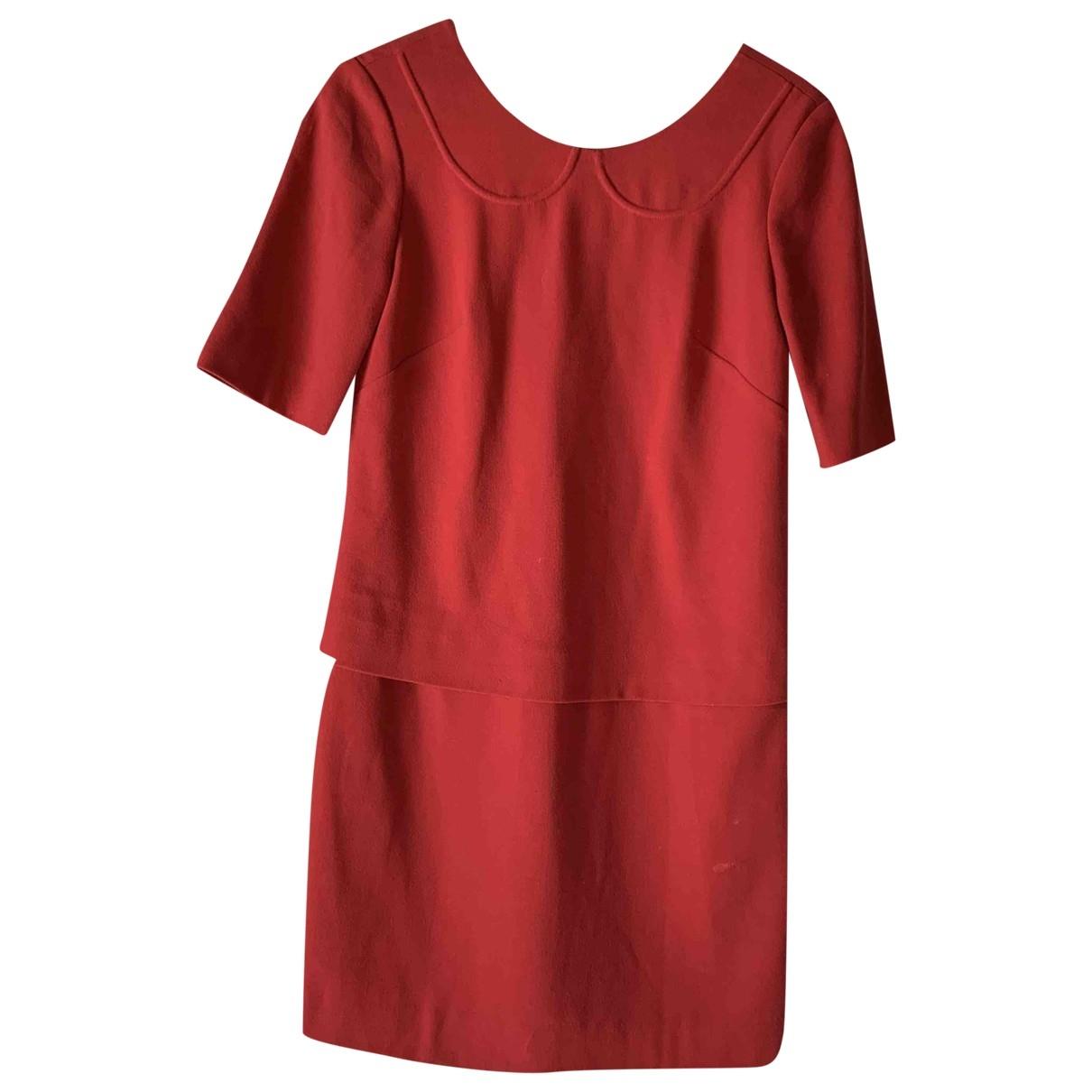 Sandro \N Kleid in  Rot Baumwolle