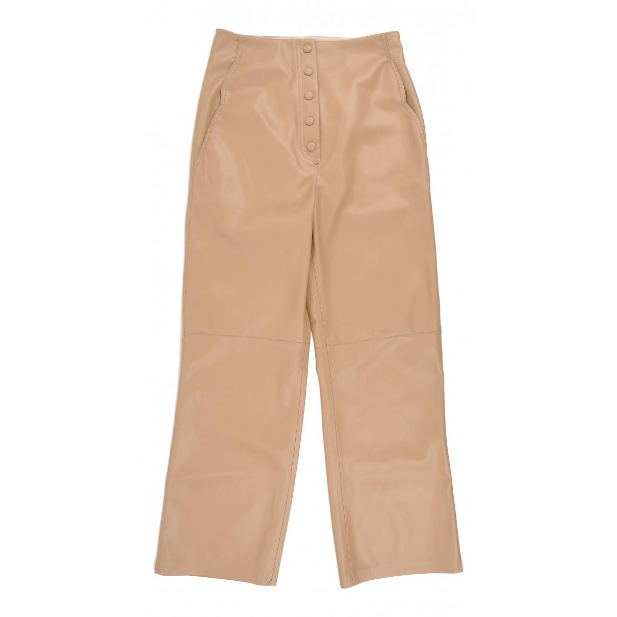 Nanushka N Camel Trousers for Women XS International
