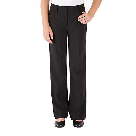 by&by girl Big Girls Flat Front Pant, 8 , Black