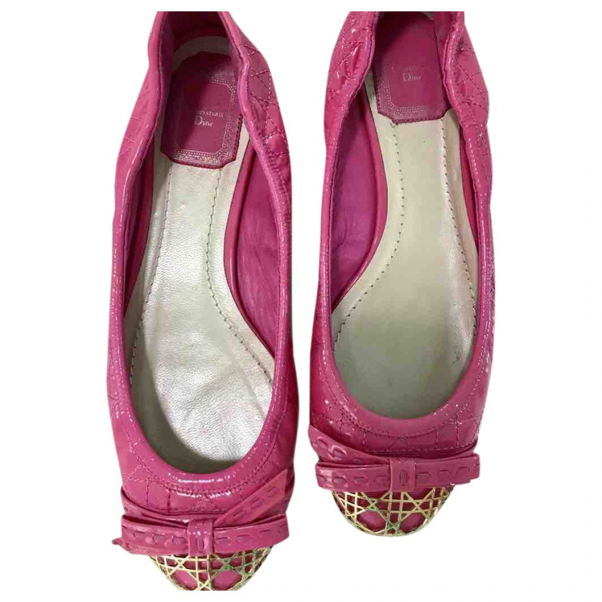Dior \N Pink Patent leather Ballet flats for Women 37.5 EU