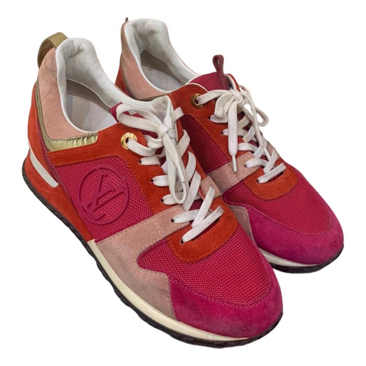 Louis Vuitton Run Away Red Leather Trainers for Women 37.5 EU