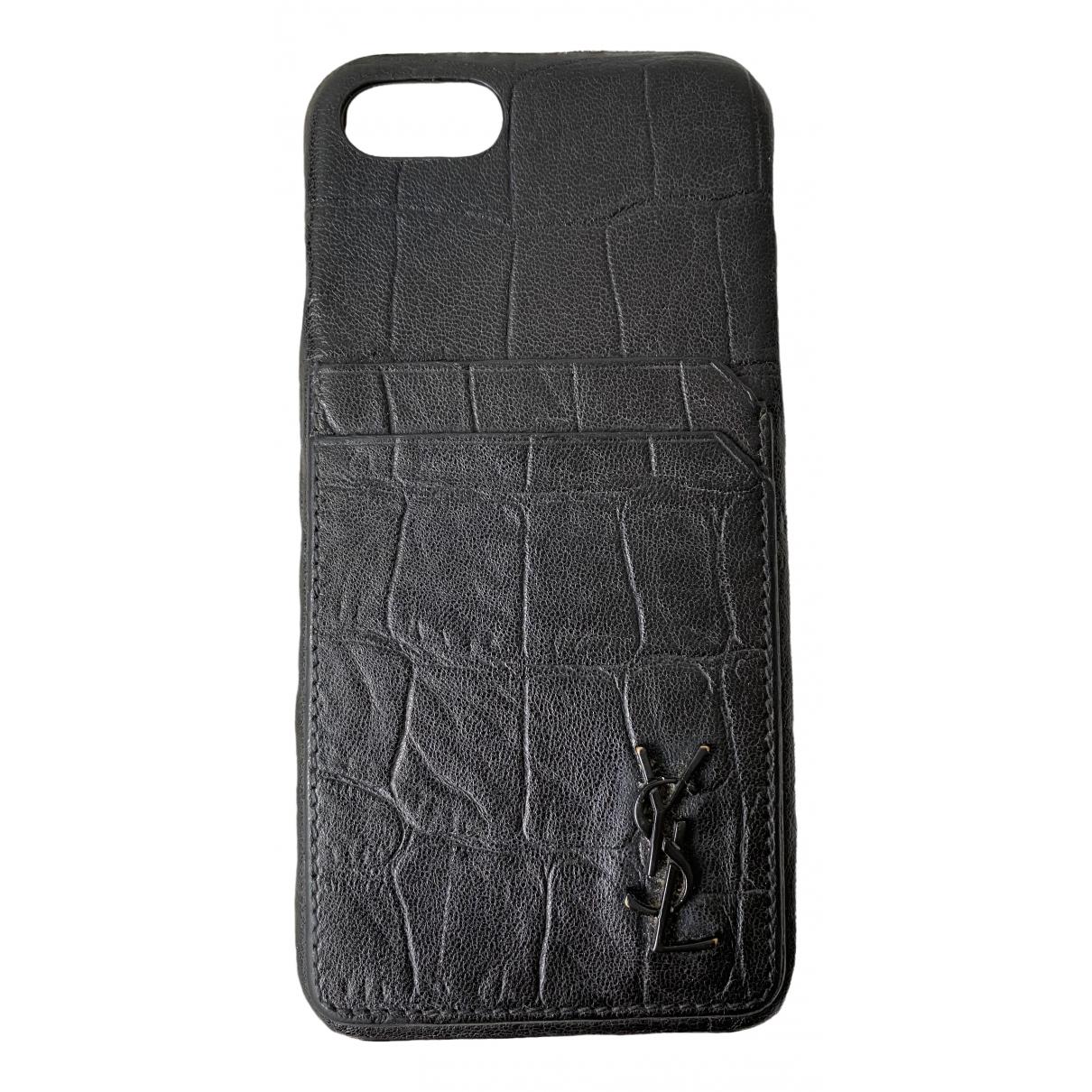 Yves Saint Laurent - Accessoires   pour lifestyle en alligator - noir