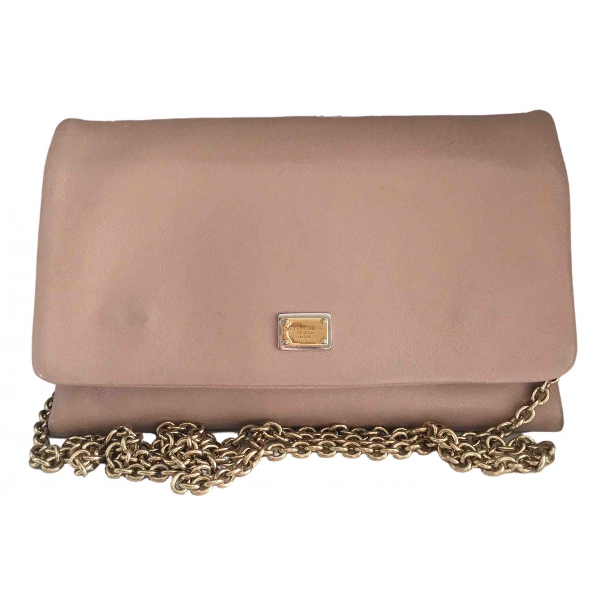 Dolce & Gabbana \N Clutch in  Beige Leder