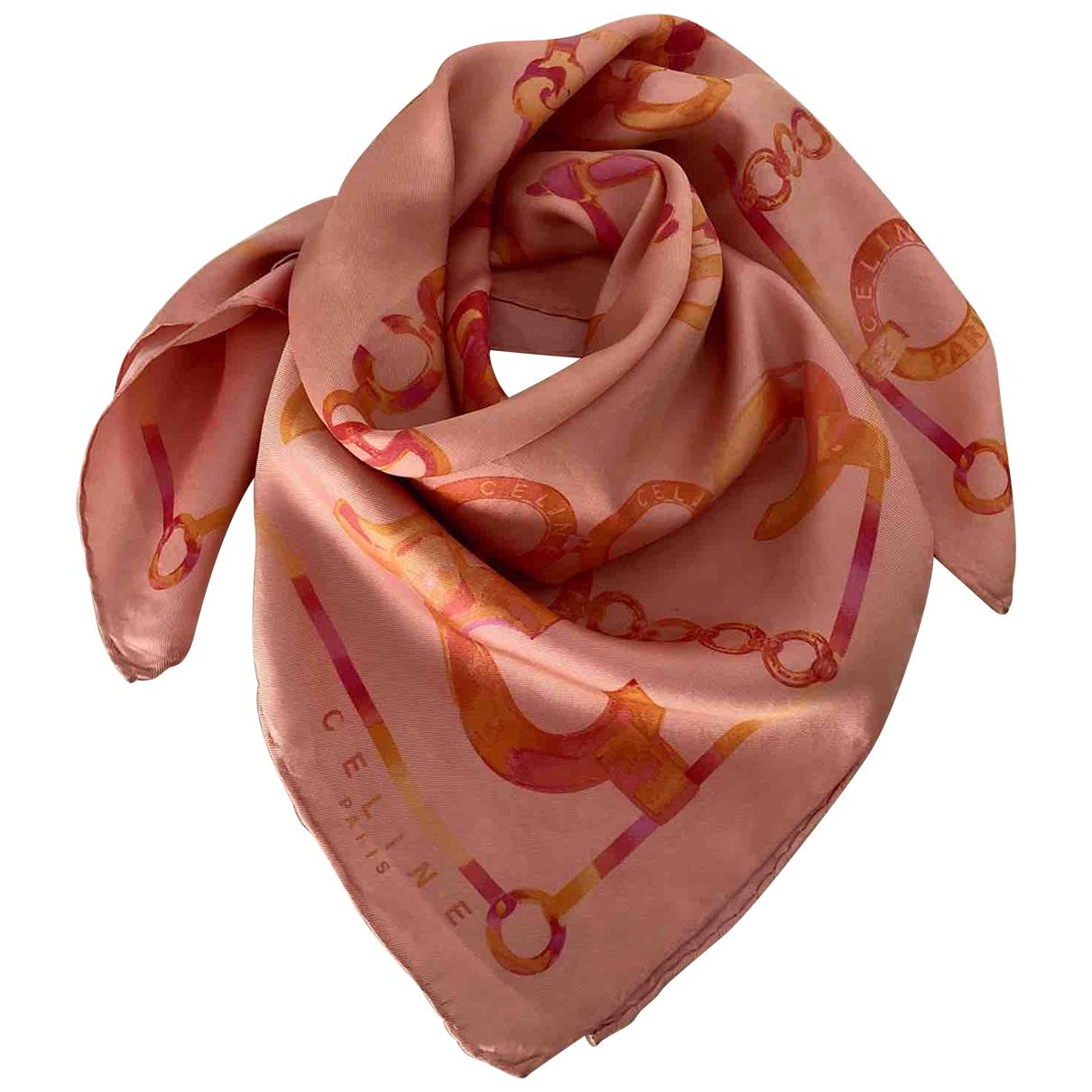 Celine - Carre   pour femme en soie - rose