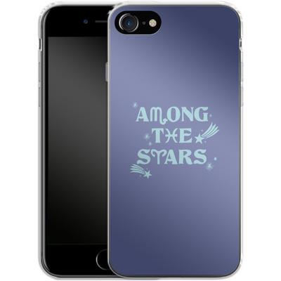 Apple iPhone 8 Silikon Handyhuelle - Among The Stars von caseable Designs