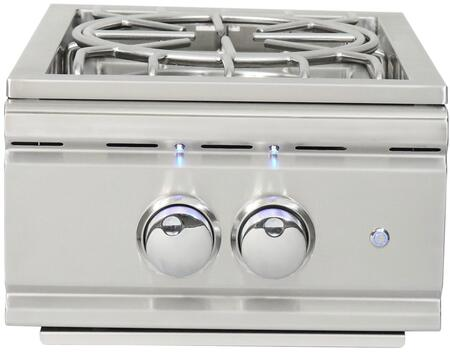 RSB Cutlass Pro Single Liquid Propane Side Burner with 60000 BTU  Stainless Steel Grates  Blue LED Controls Knobs  in 304 Stainless Steel