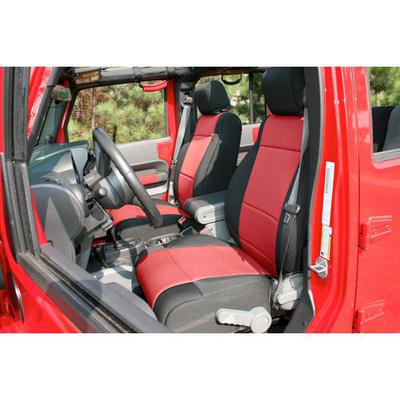Rugged Ridge Neoprene Front Seat Covers (Black/Red) - 13215.53