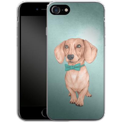 Apple iPhone 7 Silikon Handyhuelle - Dachshund the Wiener Dog von Barruf