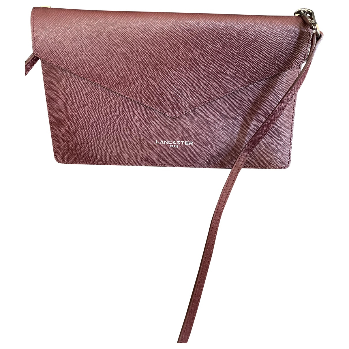 Lancaster \N Handtasche in  Bordeauxrot Leder