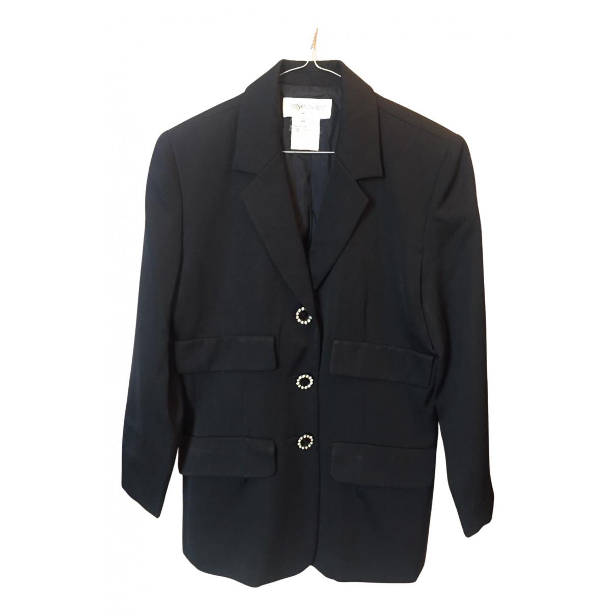 Yves Saint Laurent N Black Wool jacket for Women 44 FR