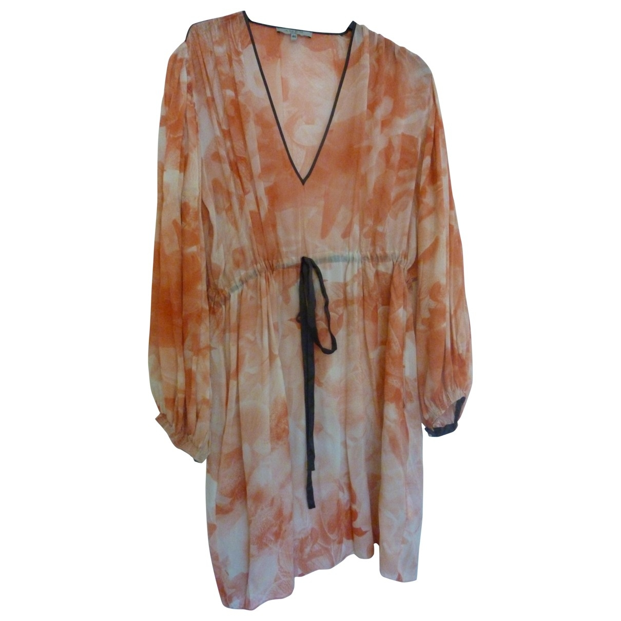 Amen Italy - Robe   pour femme en soie - orange