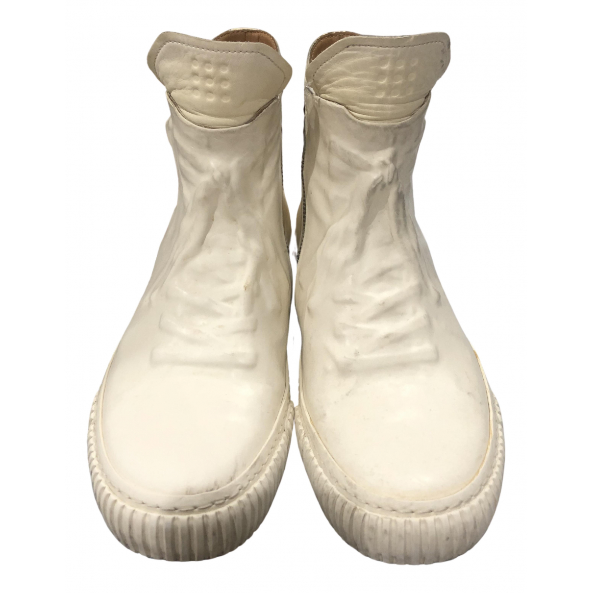 Both \N White Leather Boots for Men 42 EU