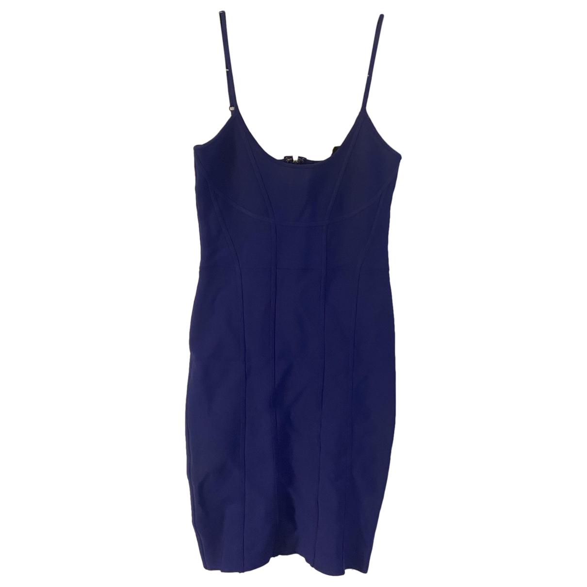 Bcbg Max Azria - Robe   pour femme en coton - elasthane - bleu