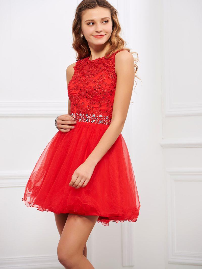 Ericdress A Line Sweetheart Applique Short Cocktail Dress