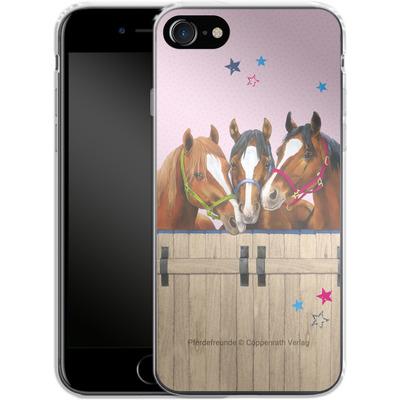 Apple iPhone 8 Silikon Handyhuelle - Pferdefreunde 3 von Pferdefreunde