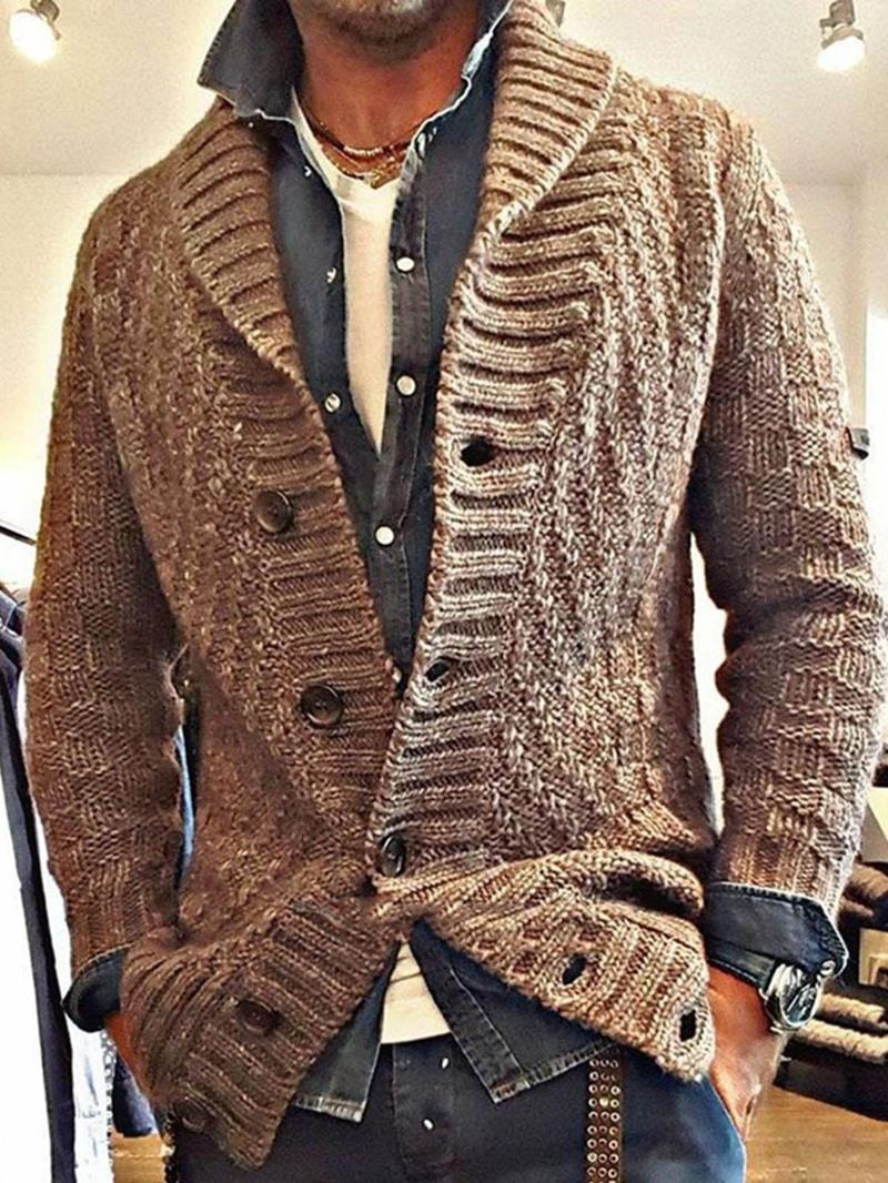 Ericdress Plain Lapel Standard Korean Slim Sweater