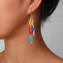 Ohrringe mit Perlen Dekor