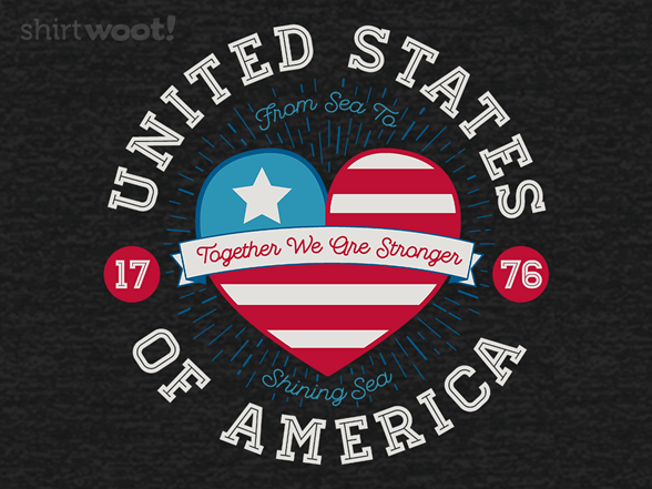 Usa United Hearts T Shirt