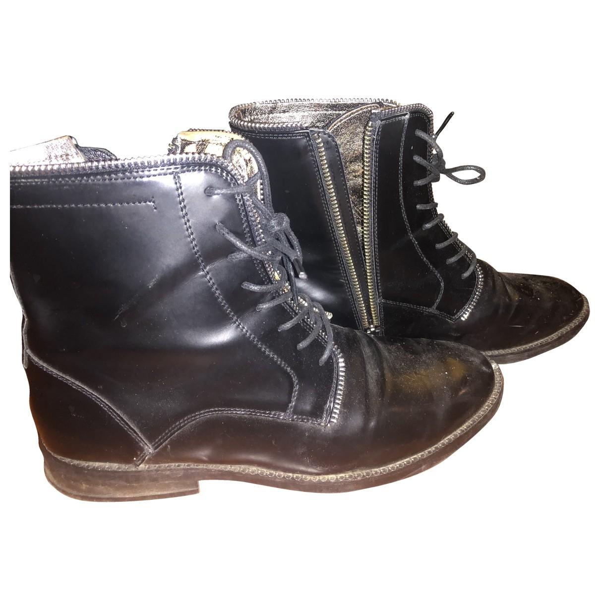 Replay - Boots   pour femme en cuir - noir